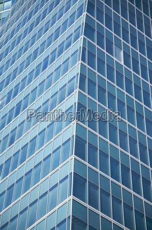 corner of business skyscraper