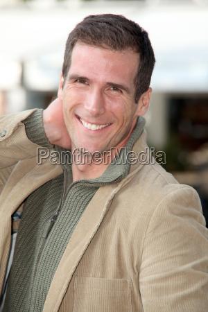 closeup of handsome man