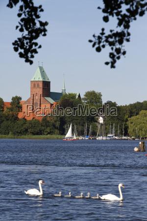 lake ratzeburg with dom