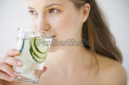 woman glass chalice tumbler cup drink