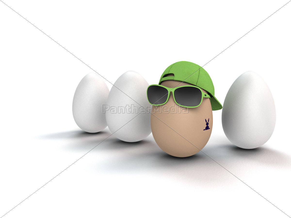 cool, easter, egg, with, tattoo - 11297553