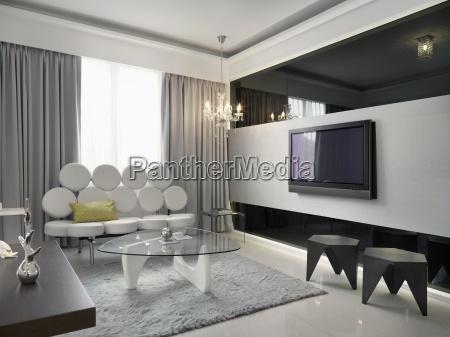 sala de estar retro moderno