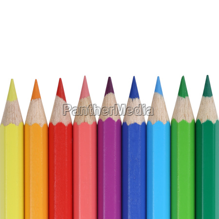 colored pencils for school with copy