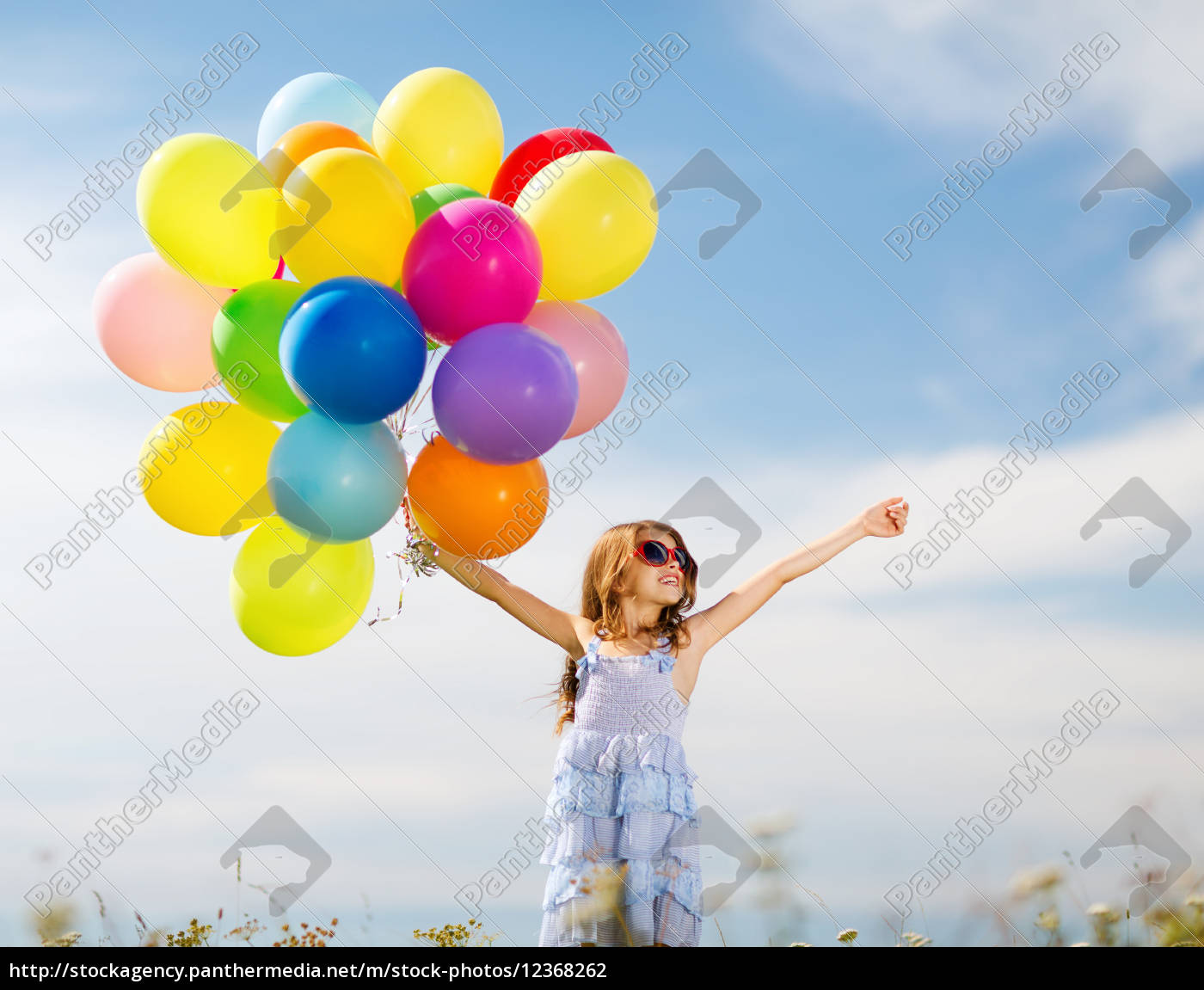 happy, girl, with, colorful, balloons - 12368262