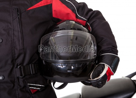 man in protective gear with his