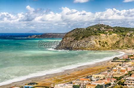 mediterranean beach in milazzo sicily