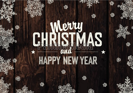 christmas greeting on wooden planks texture