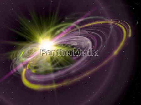 sun rays in space