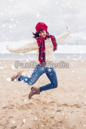 composite image of woman in stylish