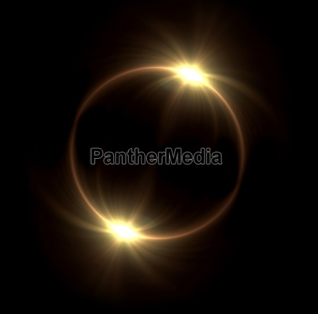 solar eclipse in space concept with