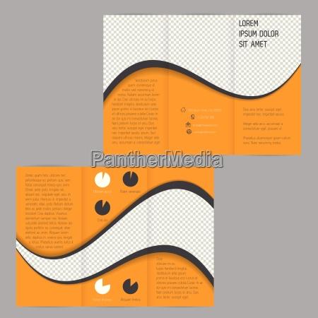 cool wave design tri fold flyer