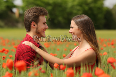 couple looking each other affectionate in