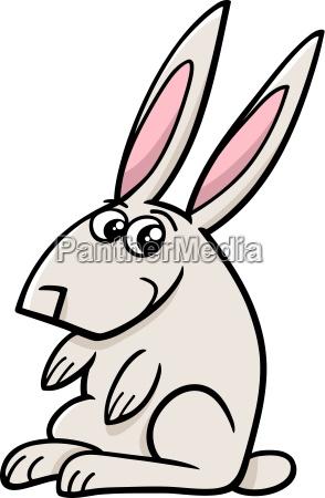 rabbit farm animal cartoon