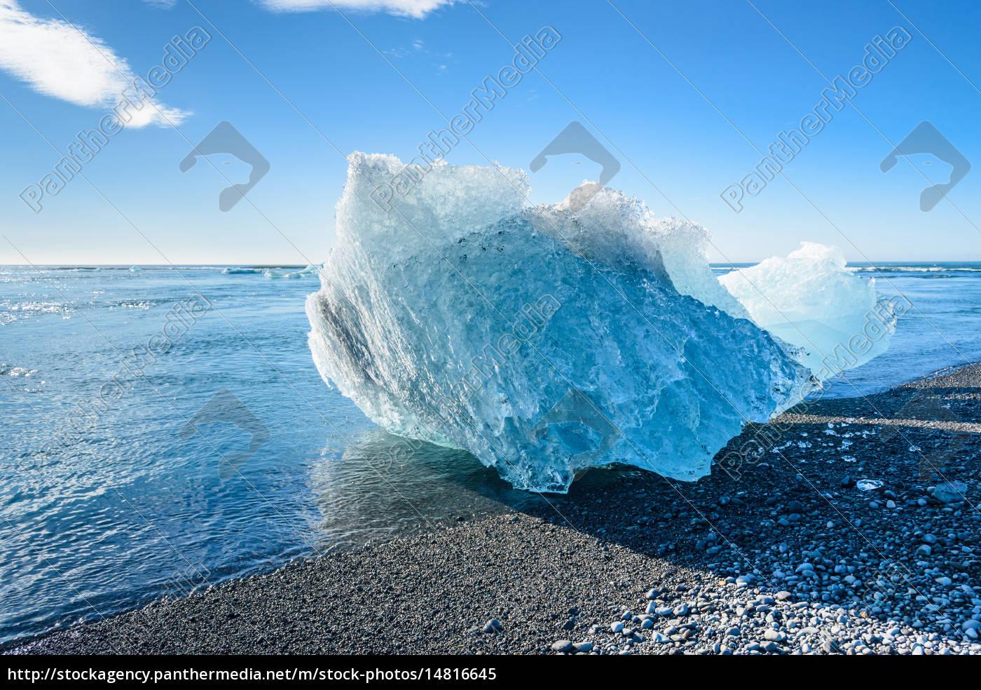 blue, iceberg, in, jokulsarlon, glacier, lake, - 14816645