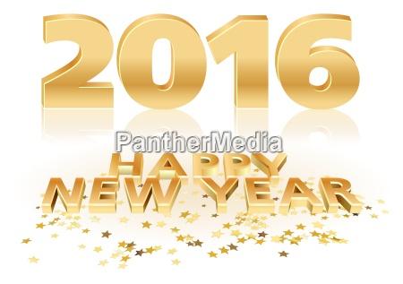 golden happy new year