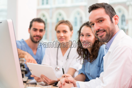 medical team working at the hospital