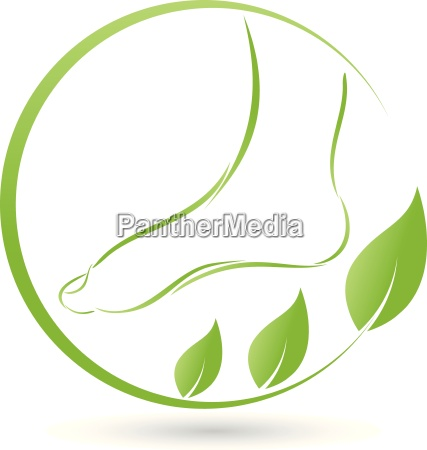 foot and leaveslogofoot care