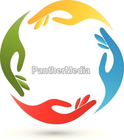four handshelpersteam logo
