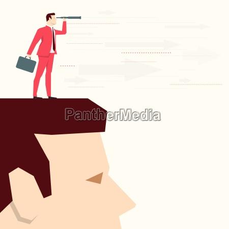 red suit businessman