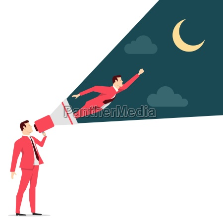 red suit businessman motivation vector concept
