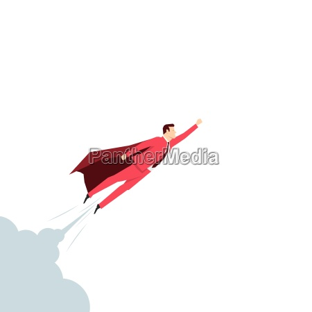 red suit businessman super hero vector