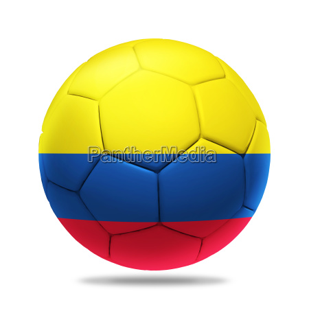 3d soccer ball with colombia team