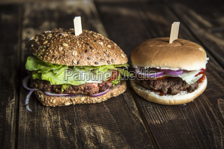 vegetarian burger with beetroot patty avocado