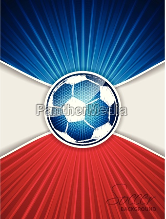 abstract blue red soccer brochure with