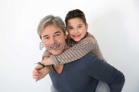 man giving piggyback ride to his