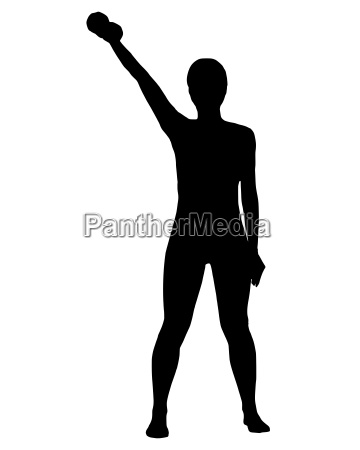 silhouette of a woman exercising