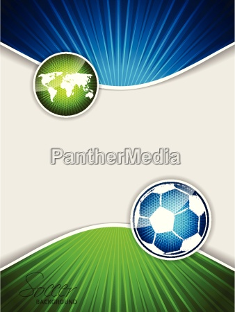 abstract soccer brochure with blue ball