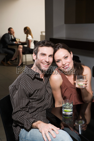 couples dating in a bar