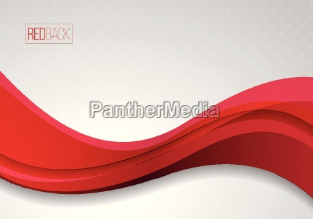 wavy red and white vector abstract