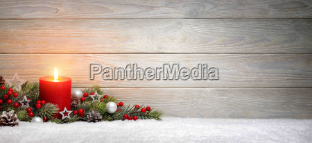 christmas or advent background wooda candle