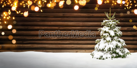 christmas frame with fir treebranches and