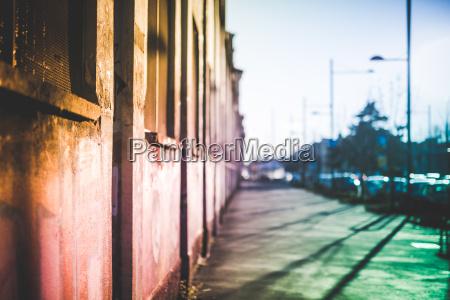 empty street milan italy
