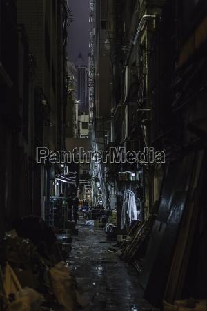 dark alleyway at night hong kong