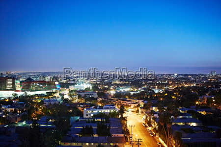cityscape at night los angeles california