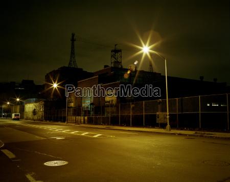 street and navy yard at night