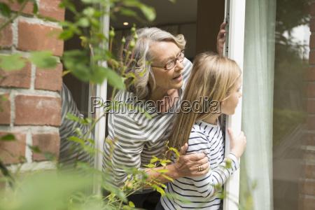grandmother and granddaughter bonding