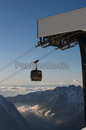 view of ski gondola and valley