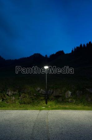 street light by roadside salzburg austria