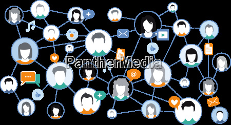 graphic representation social media network