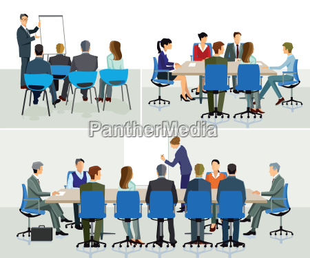 business seminar speaker with presentation