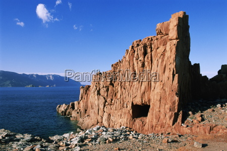 red rocks arbatax island of sardinia