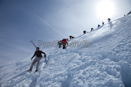 ski touring in the alps ascent