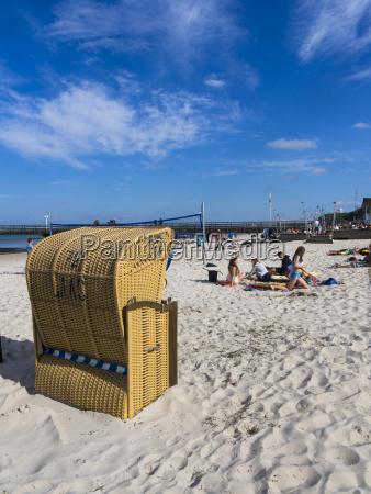 germany schleswig holstein scharbeutz beach chairs
