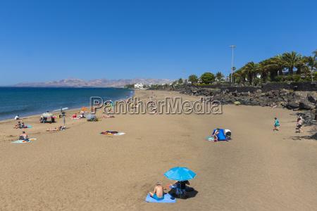 spain canary islands lanzarote beach at