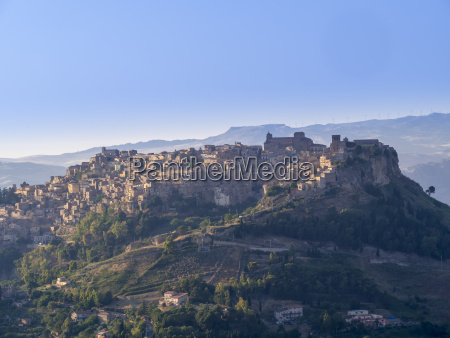 italy sicily province of enna view