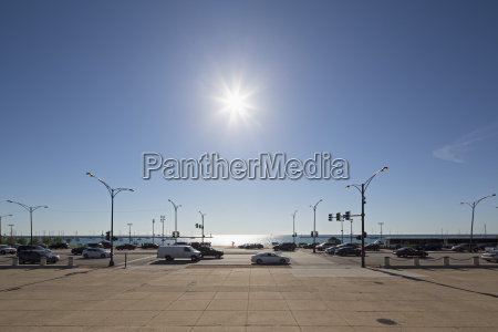 usa illinois chicago cars parking at